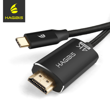 Hagibis Type C to HDMI Adapter Cable High Speed 4K USB C to HDMI Video Cable Converter 4K*2K for MacBook Pro Huawei mate10 S8