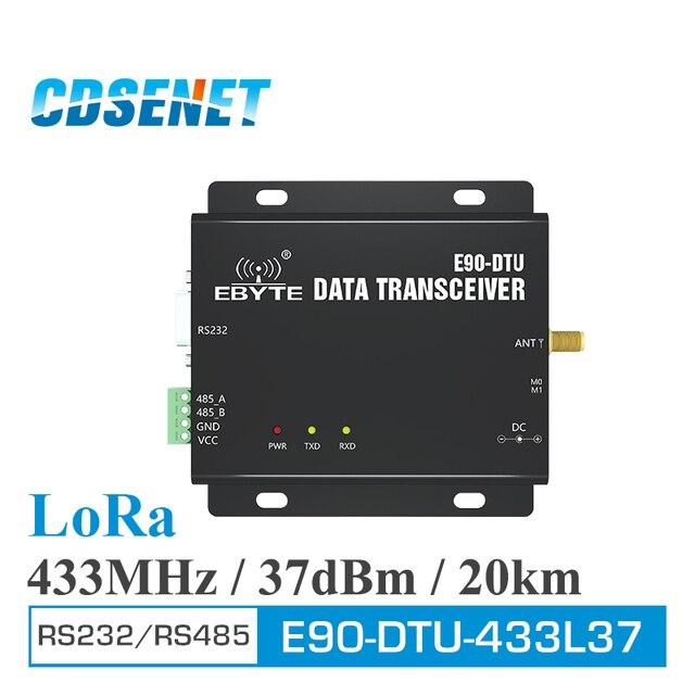 E90 DTU 433L37 Thu Phát Không Dây Lora RS232 RS485 433 Mhz 5W Dài Khoảng Cách 20Km PLC Thu Phát Đầu Thu Sóng Radio 433 MHz modem