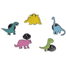 LNRRABC 2019 Dinosaur Series Drip Brooches For Women Girl Jewelry Scarf Lapel Brooch Pin Dress Decoration Clothing Accessories(China)