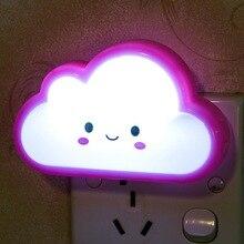 купить LED Night Lights Wall Socket Lamps US/EU Plug LED Night Light AC 220V Light  Bedroom Lamp дешево