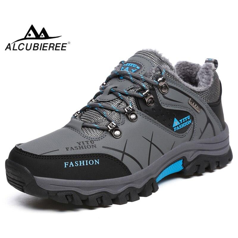 8c4f733426 ALCUBIEREE Mens impermeable al aire libre zapatos para caminar senderismo zapatos  antideslizantes invierno Trekking escalada zapatos tamaño grande 47