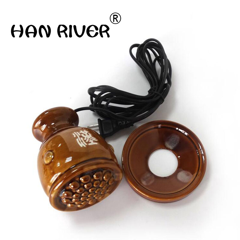 Ceramic pot meridian health beauty warm moxibustion electric magnetic therapy moxibustion khan scrapping with hot compress