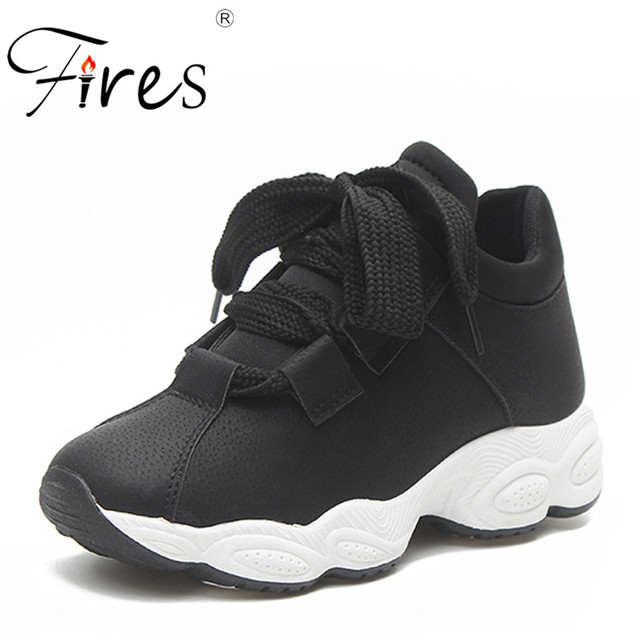 4ea6e552a36 Fires Women Running Shoes Artificial Leather Walking Shoes Comfortable Shoes  Ladies Shock Absorption Waterproof Black Shoes