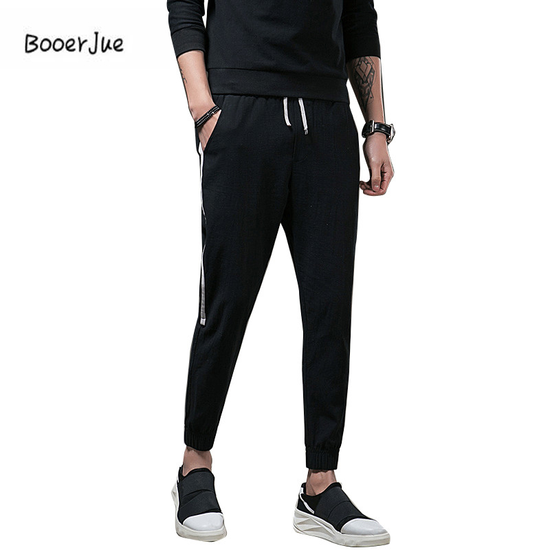 Men Casual Pants Stretch Sweatpants Summer Fitness Elastic Breathable Sweat Pants Cargo Pocket Male Long Trousers Clothing 2018