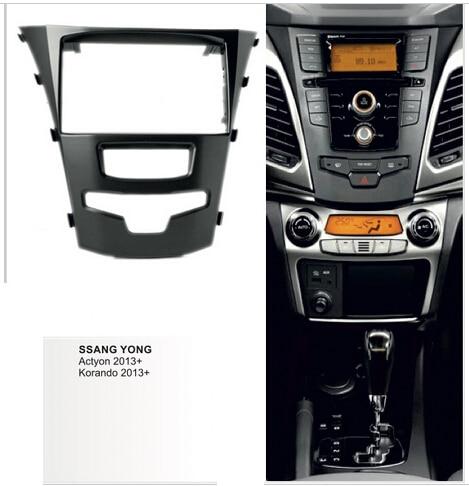 Автомобильный аудио Facia для SSANGYONG Actyon Korando 2013+ Радио DVD стерео CD панель Dash комплект отделка фасции Лицевая панель рамка