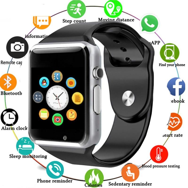 A1 Smart Uhr Bluetooth Armbanduhr Sport Schrittzähler Mit SIM Kamera Smartwatch Für Android Smartphone Russland T15 PK DZ09 Q18 X6
