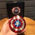 2017 Año regalo Vengadores Capitán América Shield 6800 MAH powerbank banco de potencia doble usb cargador de batería Externo portable