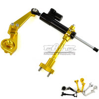 Bjmoto 3colors Aluminum Motorcycle Steering Stabilize Damper With Bracket Mount For Yamaha YZF R3 2015 2016