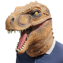Realistic T Rex Dinosaur Mask Jurassic World Cosplay Mask Adults Animal Costume Party Mask Supplies