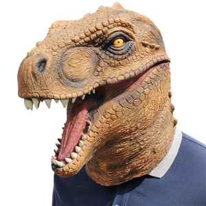 Image 1 - Realistic T Rex Dinosaur Mask Jurassic World Cosplay Mask Adults Animal Costume Party Mask Supplies