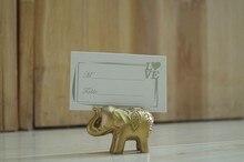 10pcs Gold Elephant Place Card Holder Wedding Bridal Shower Favors Gift rustic vintage centerpieces decoracion