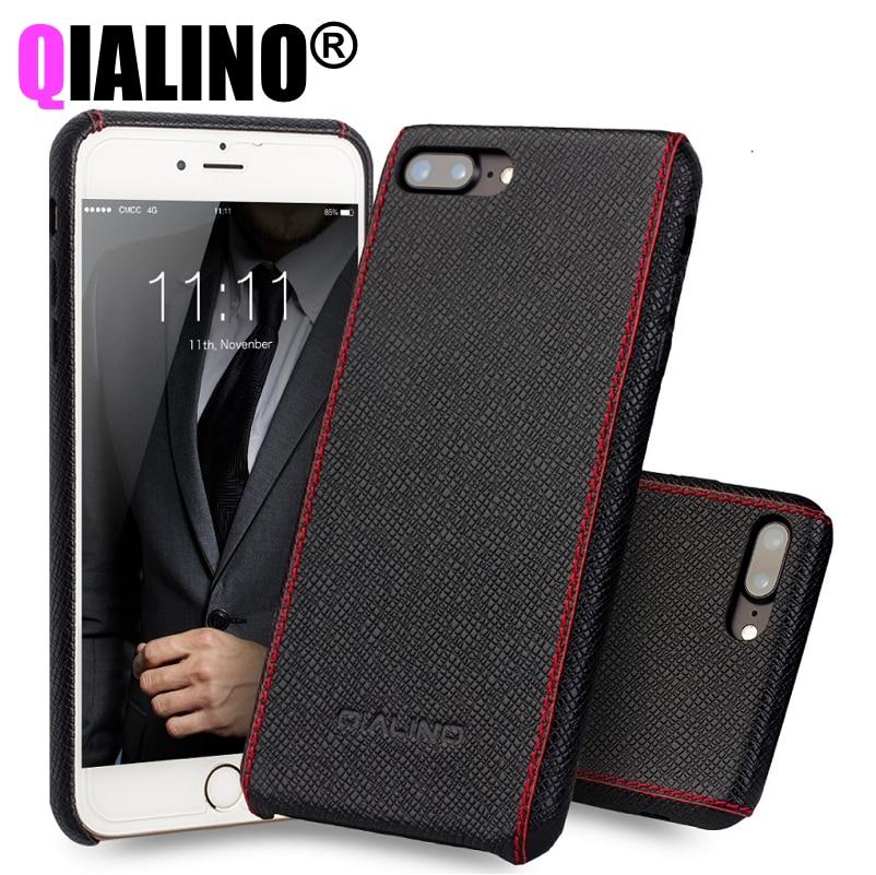 imágenes para 2017 Para el iphone 7 Más Caso de Lujo Accesorios Para El Coque iPhone 7 Casos Cajas Del Teléfono Cubierta de Piel de Becerro de Cuero Genuino Ultra Delgado