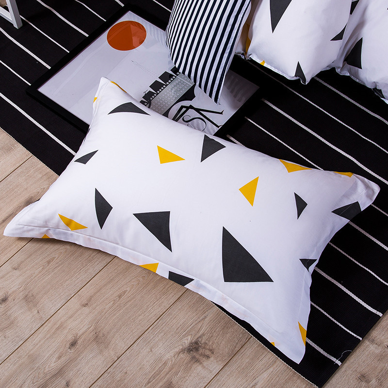 1 Piece Colorful Triangle Print Pillow Case 100% Polyester Geometric Pillowcase Children Adults Bedroom Use 48cm*74cm XF340-18
