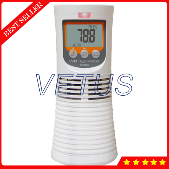 AZ8760 Dry Wet Bulb Thermometer Digital Dry Hygrometer Greenhouse Temperature And Humidity Digital Dry Bulb Thermometer ht 86 digital thermometer hygrometer wet bulb dew point temperature meter o0s0