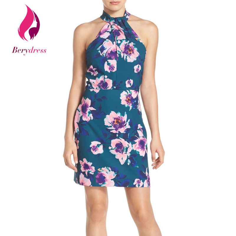 Buy Cheap Retro 1950s Women Sexy Wedding Print Party Dress Halter Sleeveless Cocktail Night Club Bodycon Girls Summer Casual Dresses 2017