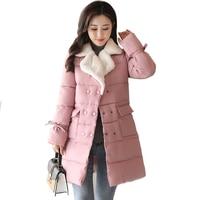 2019 jacket women winter lamb warm turn down collar fashion winter coat women autumn breast button outerwear for women parka