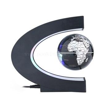 Globe deco flottant Tellurion Magnétique Lévitation Lumière Carte Du Monde Avec la Lumière 1