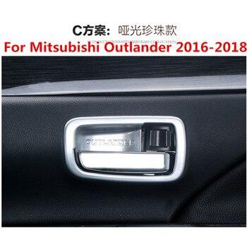 Adesivo auto ABS maniglia interna della porta polso ciotola cup trim 4 pcs Per Mitsubishi Outlander 2016-2018 accessori