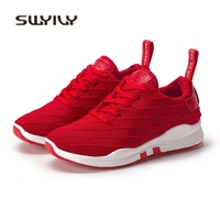 SWYIVY Shoes Sneakers For Woman 2018 Spring Breathable Woman Casual Sneakers Shoes Solid Color Flat Female