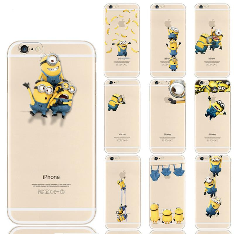 Minion Minnie Mickey Soft TPU Silicone Case Mobile Phone Bag Cover Coque iphone 5S SE 5 Accessories - ShenZhen Green Sky Technology Ltd store