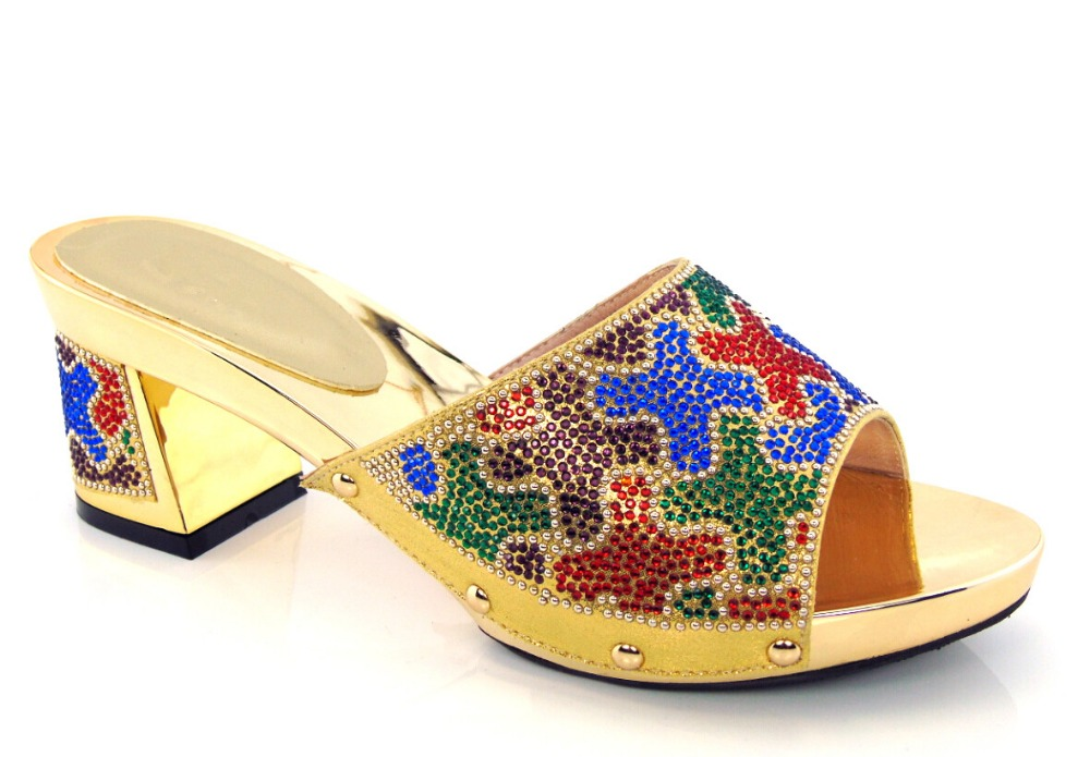 ФОТО gold Beautiful African Sandals Shoes Good Selling African Platform Shoes On Promotion! HX1-24