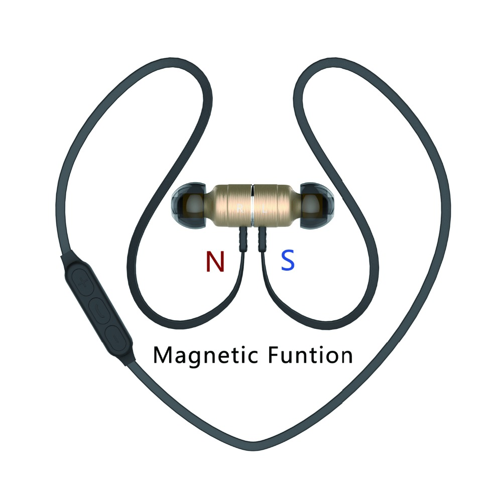 Noise Cancelling Metal Magnet Bluetooth Headsets PlEXTONE BX325 Wireless Stereo Sport Earphones With Mic For Handfree