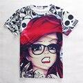 2015 nova moda verão Impressão Abstrato t-shirt Unisex Mulheres/Homens hip hop Casual camiseta 3d para os homens/mulheres harajuku t camisa