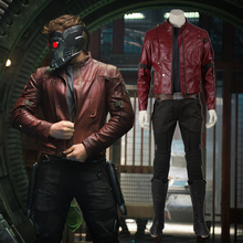 Guardians of the Galaxy Cosutme Star-Lord Suit Adult Men Peter Jason Quill Halloween Cosplay Costume Superhero Outfit