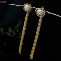 Natural Baroque irregular pearl Earrings women's fashion jewelry female new style silver silver s925 silver