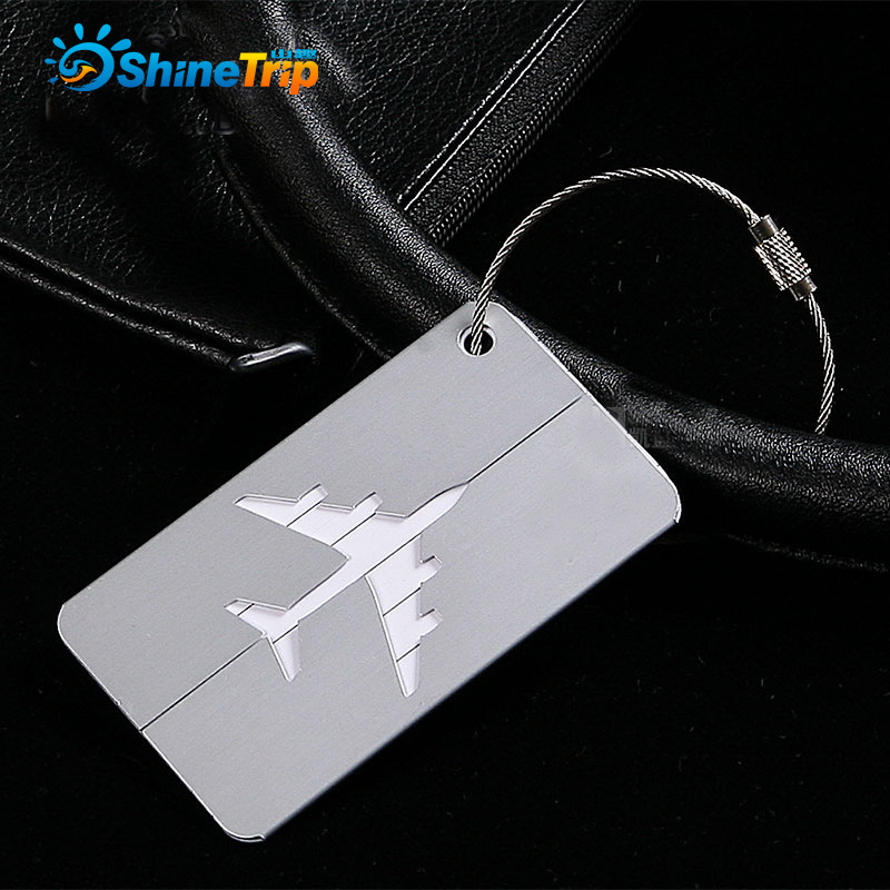 2pcs/lot Luggage Tag Travel Boarding Aircraft Plane Shape Suitcase Tag Address Holder Travel Outdoor Accessories
