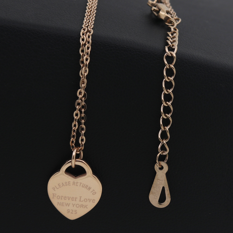 Fashion Luxury Famous Brand Love Necklace Women paragraph clavicle Necklace Gold Peach Heart Pendant Necklace Fine Jewelry