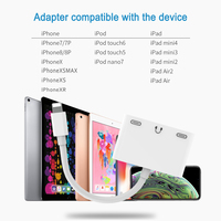 1 x 3 In 1 Adapter For Lightning To Dual Light-ning Charge With 3.5mm Headphone Audio Jack For iPhone X/8/8P/7P/7 For iOS 10.3-12.1 (4)