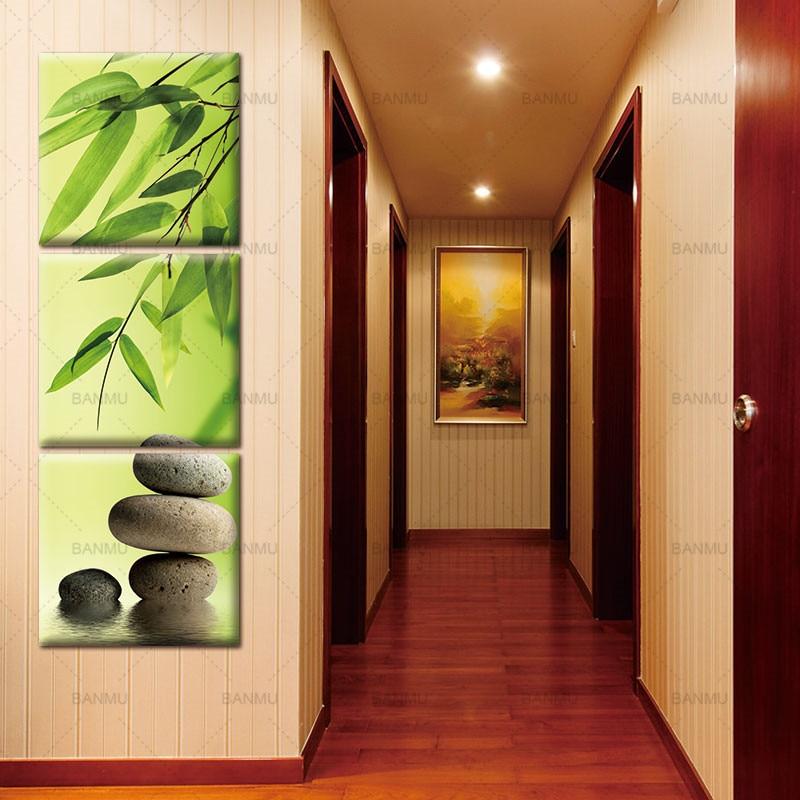 Lienzo Pintura Pared Arte Cuadro Decoracion Casera 3 Unids - Decoracion-bambu