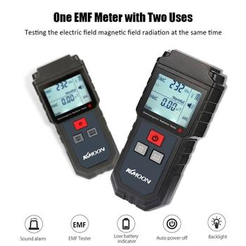 Kkmoon handheld digital lcd emf meter electromagnetic radiation tester electric field magnetic field dosimeter detector