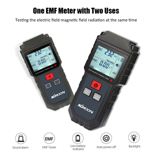 Image 4 - KKmoon يده الرقمية LCD EMF متر اختبار الإشعاع الكهرومغناطيسي المجال الكهربائي المجال المغناطيسي قياس الجرعات الكاشف