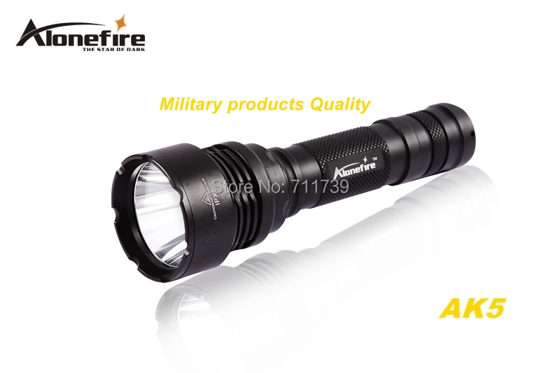 AloneFire AK5 CREE XM-L2 LED 5mode Super upper beam irradiation flashlight torch light For 18650 rechargeable battery zk35 cree xm l2 4500lm 5 mode flashlight torch led flashlight self defense lamp rechargeable with 18650 battery for outdoor