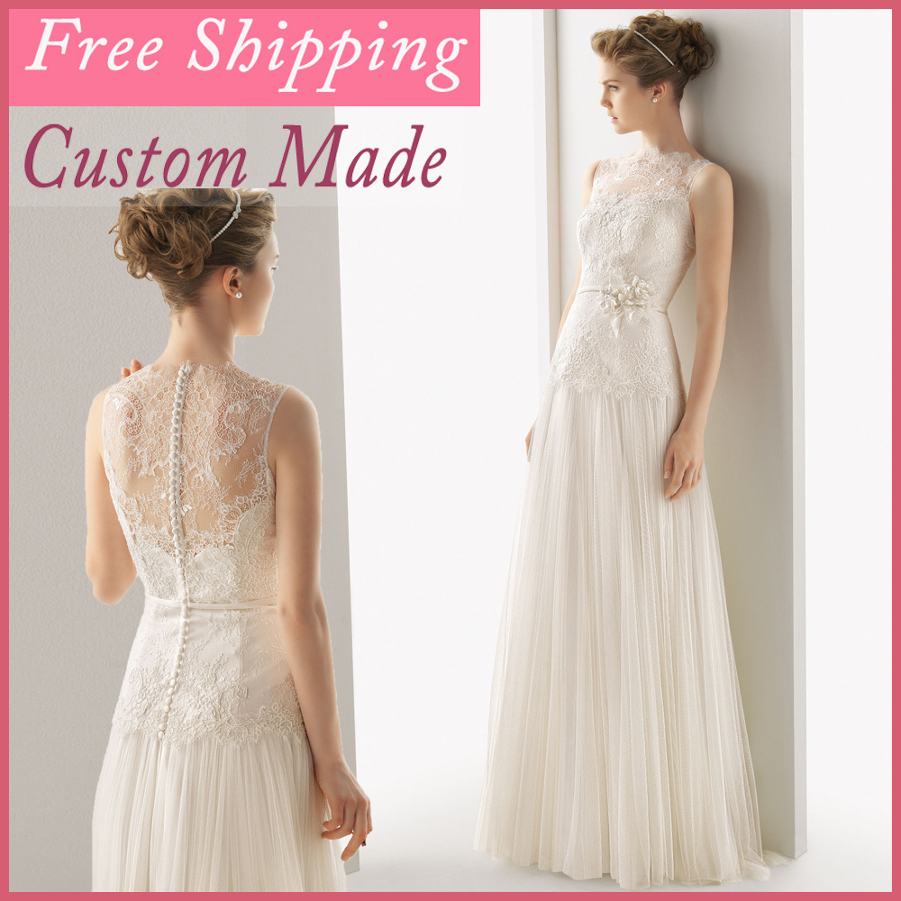 2018 Free Shipping Simple White Beach Lace And See Through A-Line Guest Brides Custom Made Mother Of The Bride Dresses