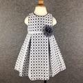 6 - 24 M marca do bebé vestido listrado flor princesa bebê vestido de festa oco xadrez meninas roupa vestido infantil
