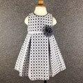 6-24M Brand Baby Girl Dress Striped Flower Princess Baby Party Dress Hollow Plaid Girls Clothes vestido infantil