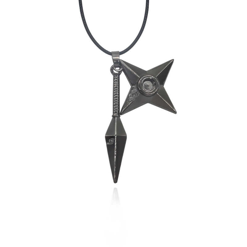Classic Japan Anime Naruto Ninja Shuriken Darts Pendant Necklaces Men Jewelry Acrylic Accessories Choker Necklace