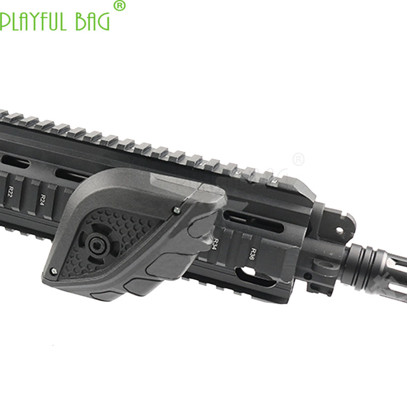 Outdoor CS Fist Grip Jinming 9 Gen9 Toy Water Bullet Gun M4 Refit Fishbone Triangular Vertical Nylon Grip HK416 LI67