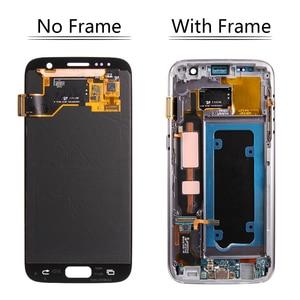 Image 3 - Super AMOLEDสำหรับSAMSUNG Galaxy S7 จอแสดงผลLCDหน้าจอสัมผัสDigitizerกรอบสำหรับSAMSUNG S7 จอแสดงผลG930 G930F LCDจอแสดงผล