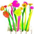 6pcs/1 lot Fashion Hot creative stationery Bloom Sweet Lucky Flora flowers Pen design Ballpoint pen Stationery