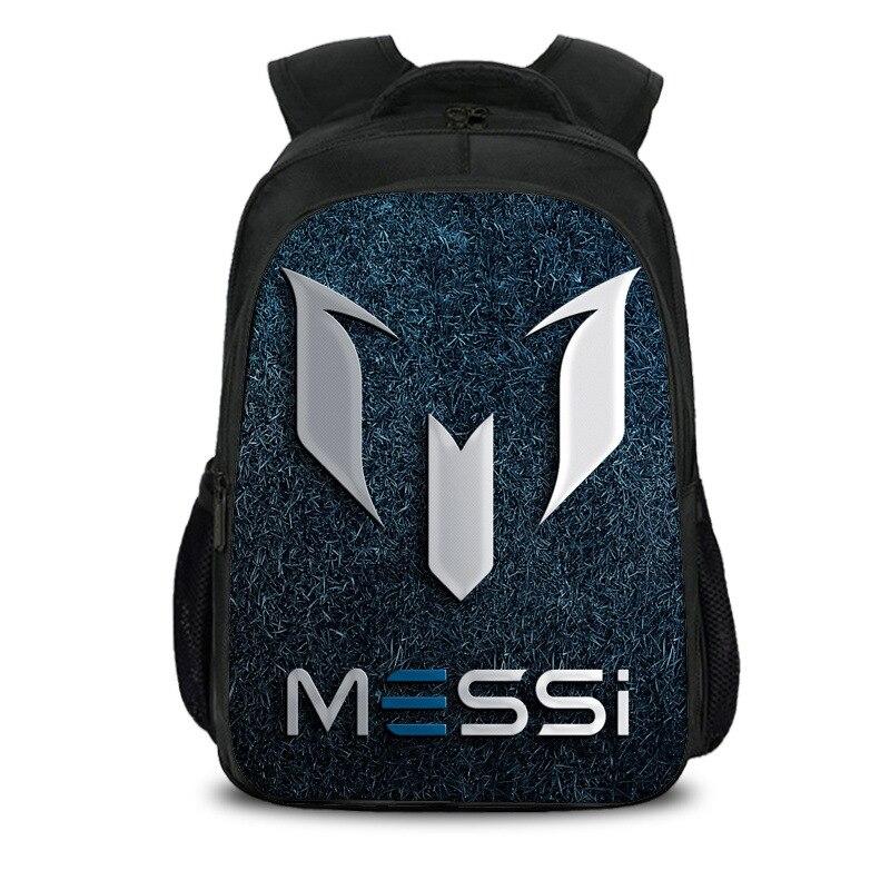 Backpack Children Book-Bag Back-To-School-Gift Girls Boys Students Anime 10 Messi Soccer-Star