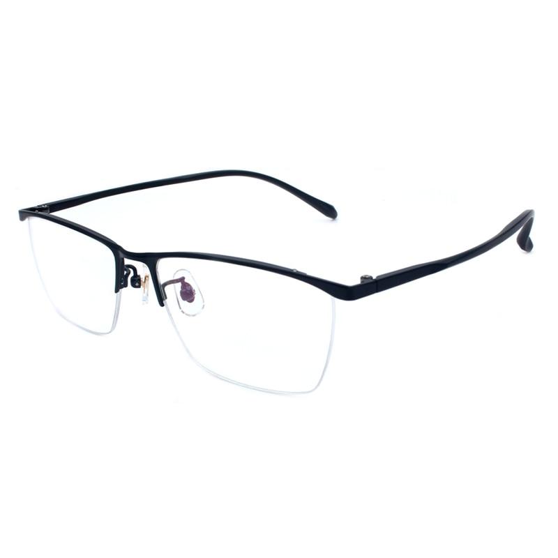Handoer P9927 Optical Glasses Frame for Titanium Alloy Eyewear Half Rim Spectacles Glasses Optical Prescription Frame in Men 39 s Eyewear Frames from Apparel Accessories