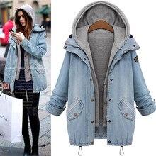 Plus Size M-7XL New Women Denim Jacket Coat Autumn 2019 Hot Sale Long Sleeves Jeans Jackets Lapel Tops Pocket zipper Casual