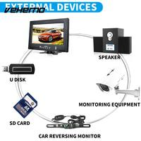 9inch Portable TV Screen Car TV Signal Speaker Car Monitor Reverse Monitor USB SD Card Slot