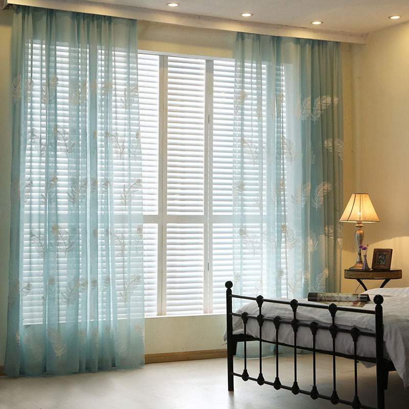 Aliexpress buy modern white feather embroider voile curtains aliexpress buy modern white feather embroider voile curtains bedroom sheer curtains for living room tulle window curtainspanels window screen from ccuart Gallery