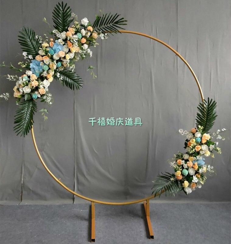 Cadre de couronne en métal pour la porte de l'arc de mariage et la décoration de mariage de support de fleur