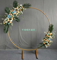 metal wreath frame for wedding arch door and flower stand wedding decoration
